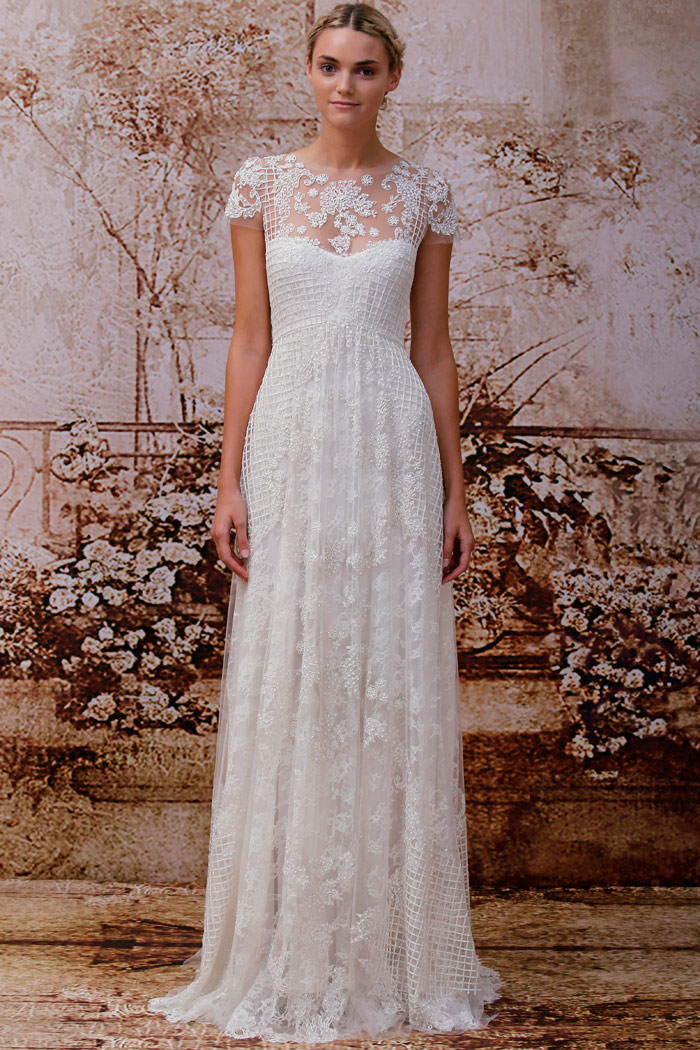 Monique lhuillier fall 2014 bridal collection the for Monique lhuillier bridal designers