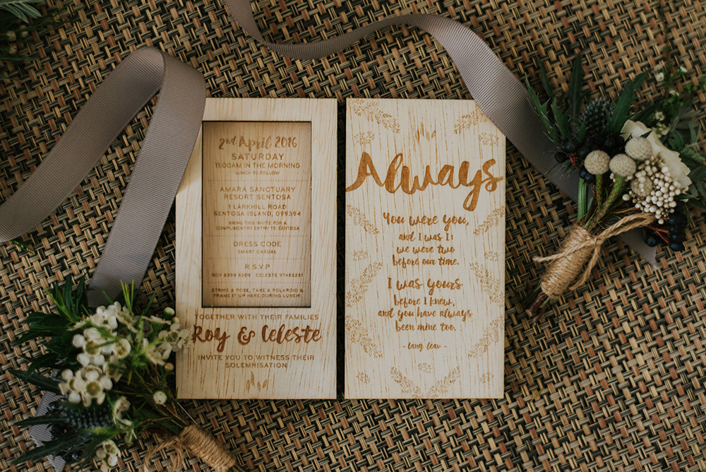 Wood engraved wedding invitations by Common Hands. Bloc Memoire Photography. www.theweddingnotebook.com